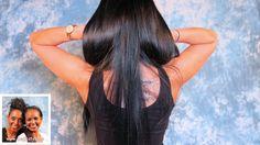 Kristina: Superlange, seidig schimmernde tiefschwarze Haare - ein Haartr...