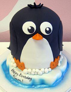 3D Penguin Cake for Sam
