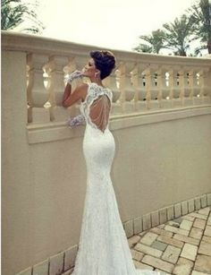 Sweetheart Lace Wedding Dress Mermaid Wedding Dress by Whitesrose