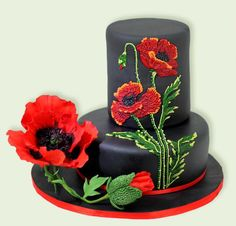 Poppy - Cake by Tortenherz #poppiescake