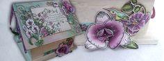 Explore creative paradise: Orchid flower birdhouse tutorial! - Heartfelt Creations by Alicia Barry