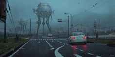 Stefan Koidl (previously) is an Austrian freelance illustrator and a concept artist, who creates eerie illustrations in Photoshop. His works feature various creepy motives, ranging from urban legen… Dark Fantasy Art, Dark Art, Fantasy Creatures, Mythical Creatures, Strange Creatures, Cyberpunk City, Survival, Arte Obscura, Creepy Art