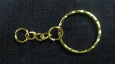 Wholesale 50 Gold Tone Split Rings 1 inch by vintagejetpatterns, $7.00