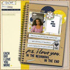 Credits: -  Sahlin Studio | P.S. I Love You kit - Allison Pennington | Storytelling Elements - Heather Joyce | The Kala font - Sara Gleason | Rosemary template