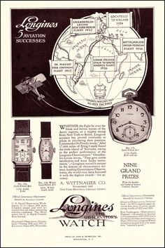 1927 Longines Watch ad ‹ Strickland Vintage Watches
