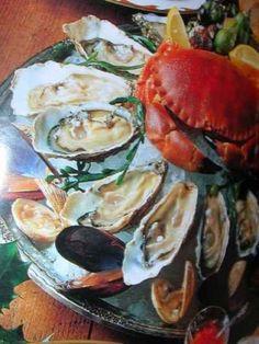 Plateau fruits de mer avec huitre au champagne