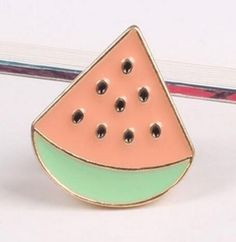 Cute Fruit, Cat, Plant and Sunglass Pins Cute Watermelon, Cute Fruit, Cute Jewelry, Body Jewelry, Women Jewelry, Traci Lynn Fashion Jewelry, Coin Pendant, Cute Pins, Metallic Colors