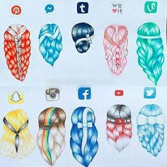 Comment your FAVE Social Media Hairstyle below!✨ Follow us! ❣ @just_arts_help . By @drawinglea
