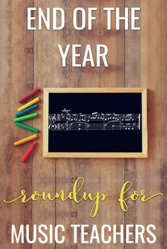 Great music lesson ideas for the end of the year! A list of blog posts with fun games, crafts, and organization tidbits for elementary music teachers.