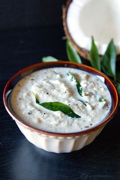 A quick, easy and sweet coconut chutney perfect with any savory breakfast like idli, dosa, pongal, etc...