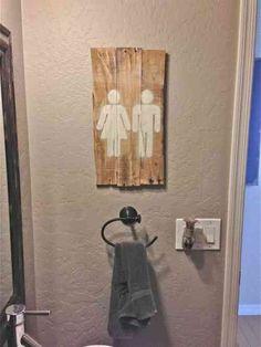 Recyclage de palette bois ☆ diy ☆ home sweet home ☆ déco récup ♡ déco maison ☆ toilettes ☆