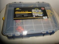 PLANO PRO-LATCH STOWAWAY TACKLE BOX, 3600 Series Includes Some Fishing Supplies #PLANO