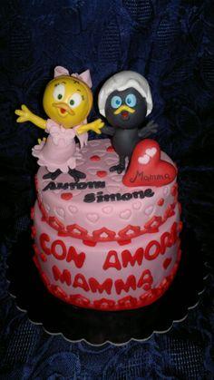 Cake Calimero e Priscilla