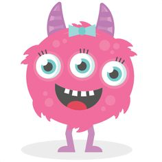 Girl Three Eyed Monster SVG cutting file monster svg cut files for scrapbooking scal files scut files mtc files