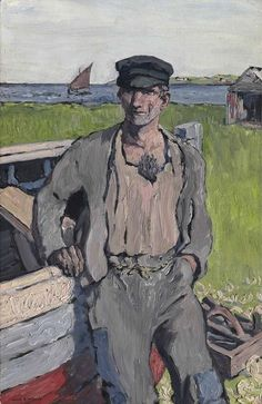 The Boat Builder by Jack Butler Yeats, 1913