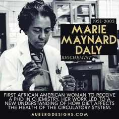 Marie Maynard Daly, Biochemist. #DistractinglySexy #ScienceSunday http://ift.tt/1JORYme