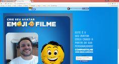 Campanha Emoji o filme, app Facebook, compartilhando a foto gerada pelo APP.