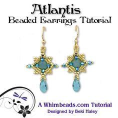 Atlantis Beaded Earring Tutorial by Whimbeads on Etsy, $6.00