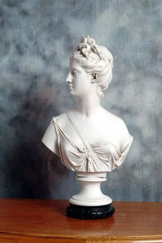 A marble reproduction bust of Diana, goddess of hunting and outdoor pursuits. Sculpted by Jean-Antoine Houdon, 1741-1828, a French Neoclassical sculptor who was awarded the Prix de Rome in 1761. His Diana is housed in the Louvre, Paris.  Now, Prima Dimora specialise in the finest exquisite copies of marble sculpture originals and has one of the largest selections of marble sculptures for sale in the world. Authentic, high quality sculpture is extremely rare but for those who understand the…