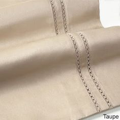Shop for 600 Thread Count Long Staple Cotton Lace Embroidered Sheet Set. Get free delivery On EVERYTHING* Overstock - Your Online Bedding Basics Store! Mens Kurta Designs, Moroccan Caftan, Bedding Basics, Cotton Sheet Sets, Cotton Lace, Simple Designs, Hand Embroidery, Taupe, Bed Covers