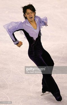 Daisuke Takahashi of Japan competes in the free skate program of the Smart Ones Skate America at Boardwalk Hall on October 21 2005 in Atlantic City...