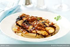 Blackened Chicken Strips on Pasta with Cajun Sauce