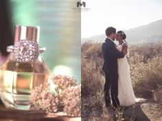 Southern California Wedding Photography - Los Angeles | Pasadena | Orange County | Inland Empire - blog - Romance by the Quarry | Riverside, CA. wedding ring, vintage bottle, bride, groom, vintage dress, art deco, desert.