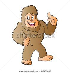 Bigfoot cartoon.