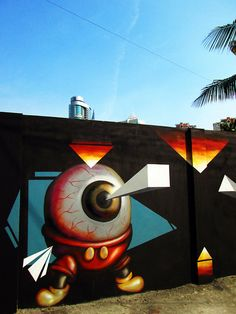 Totally awesome abstract mural from Crist Espiritu in the...