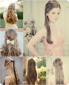 cute half up and half down hairstyle with long straight silky human hair extensions