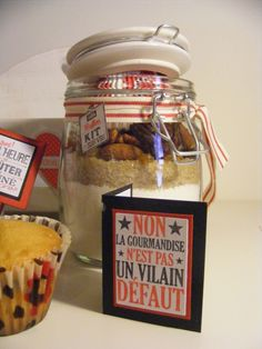 Muffins, Gifts For Cooks, Jar, Homemade, Cookies, Thierry, Desserts, Sachets, Muffin