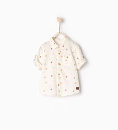 ZARA - KIDS - Printed shirt with roll-up sleeves
