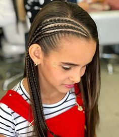 Image may contain: one or more people stripes children and foreground Weave Ponytail Hairstyles, Teen Hairstyles, Little Girl Hairstyles, V Hair, Girl Hair Dos, Baby Hair Cut Style, Natural Hair Styles, Long Hair Styles, Toddler Hair