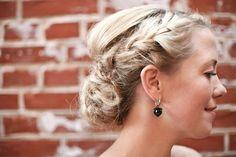 Gorgeous boho chic braided up do