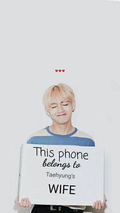 """je veux cette coque """"ce telephone appartient a la femme de Taehyung'"""