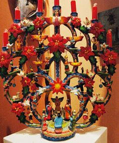 Christmas is just around the corner everyday at the Vanesian household, which includes a nativity tree of life (arbol de la vida) by the Alfonso Castillo family of Izucar de Matamoros, Puebla.