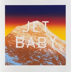 Jet Baby by Ed Ruscha on artnet Auctions