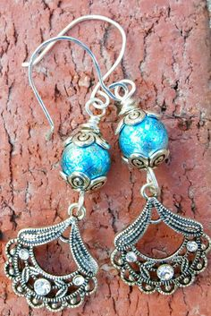 Blue Drop Earrings, Funky Blue Earrings, Drop And Dangle Black Friday Sale, Shop Small, Cyber Monday! What ever you want Call it! It's a sale, a big sale! Everything is 50% until December 25! Use code BUYMENOW at check out! #handmade #cyberweeksale #giftsforher