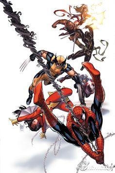 #Avengers #Fan #Art. (New Avengers #50 Variant Cover) By: Adam Kubert. (THE * 5 * STÅR * ÅWARD * OF: * AW YEAH, IT'S MAJOR ÅWESOMENESS!!!™) ÅÅÅ+