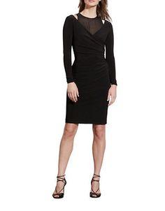 Lauren Ralph Lauren Cutout Jersey Dress Women's Black 14