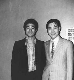 with Hong Kong Actor Lui Kei (呂奇) Bruce Lee Master, Bruce Lee Family, Way Of The Dragon, Enter The Dragon, Ufc Boxing, Bruce Lee Quotes, Combat Sport, Martial Artist, Rare Photos