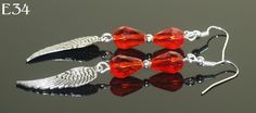 FREE SHIPPING  Crystal and angel wing earrings - easy to make!