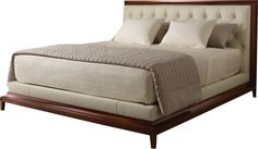 Moderne Platform Bed - Tufted by Thomas Pheasant - 8627K-1