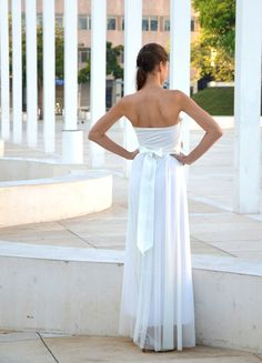 Strapless wedding dress with lace embroidary by Barzelai on Etsy