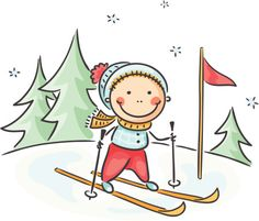 Buy Winter Activities by katya_dav on GraphicRiver. Little boy's winter activities skiing Art Drawings For Kids, Drawing For Kids, Easy Drawings, Cartoon Kids, Cute Cartoon, Ski Drawing, Picture Frame Decor, School Decorations, Rock Crafts