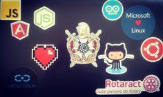 Alguns adesivos novos. Não basta fazer programa tem que ostentar. #nerdstickers #programming #javascript #js #angular #nodejs #github #arduino #linux #ubuntu