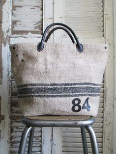 Sacs Tote Bags, Tote Purse, Reusable Tote Bags, My Bags, Purses And Bags, Diy Sac, Sack Bag, Couture Sewing, Linen Bag