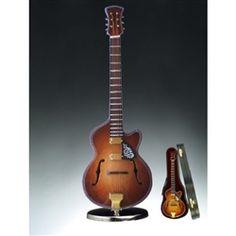 "7"" F-Hole Guitar with Cut Away Music Box #hiddentreasuresdecorandmore"