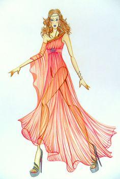 Stellita PinK StaR: COLLEZIONE Spring summer dresses fashion sketches 2012