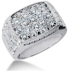 Round Brilliant Diamond Mens Ring in White Gold SAR) ❤ liked on… - mens gold jewelry online, buy mens jewelry online, mens costume jewelry necklaces Diamond Jewelry, Jewelry Rings, Men's Diamond Rings, Gold Jewelry, Jewelry Box, Gold Rings, Jewellery, Mens Pinky Ring, Pinky Rings